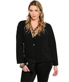 Style Out Women's Blazer Plus Size 2X Black Animal Print ... http://www.amazon.com/dp/B01G4AXX58/ref=cm_sw_r_pi_dp_Yadvxb1BT38KJ