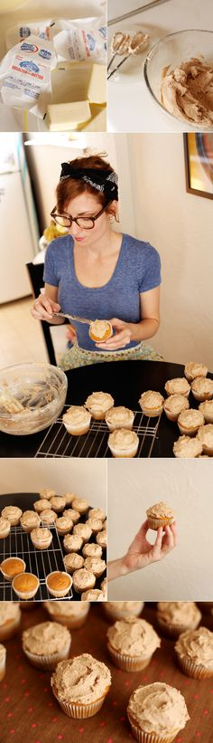 Pumpkin Spice Cupcakes with Browned Butter Cinnamon Buttercream - And Then We Saved