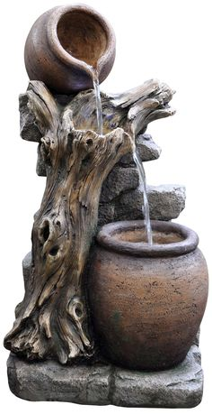 EASY FOUNTAIN Made from durable resin-stone. #waterfountain www.kelkay.co.uk