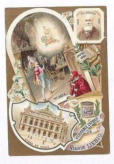 Gounot - Compositeur Faust Opéra de Paris - Chromo Liebig - Trade Card • EUR 3,50