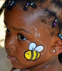 Image result for bee face paint