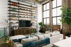 Industrial Brooklyn Loft Filled With Art | Gravity Home | Bloglovin'