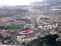 Vista aérea do Estádio da Luz, Benfica, Lisboa