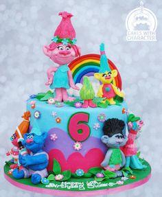 Trolls birthday cake! by Jean A. Schapowal