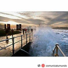 #Repost @comunicatumundo ・・・ ¡Qué bien sienta #gijón siempre! #asturias #asturias_ig #asturiasgram #asturiasgrafias #cantabrico #paraisonatural #atardecer #sunset