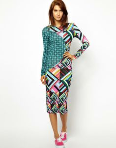 Top Dress Brands - House of Holland Midi Dress in Jigsaw Print, ₤151.75 (http://www.topdressbrands.com/house-of-holland-midi-dress-in-jigsaw-print.html)