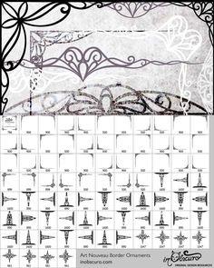 Art Nouveau Border Ornaments Free Photoshop Brushes