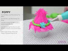 How to Make DreamWorks' Trolls Cupcakes - YouTube
