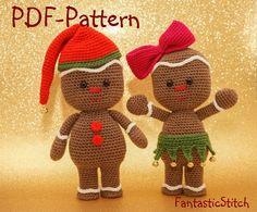 Amigurumi Gingerbreadman crochet pattern by Eisenberg - Craftsy