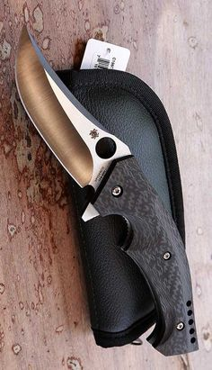 Spyderco Brend-Pirela Mamba Folding Pocket Knife Blade @thistookmymoney