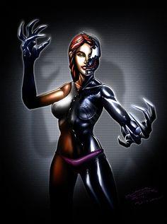 MJ + Symbiot by jameslink.deviantart.com on @DeviantArt