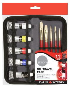Daler Rowney Simply Acrylic Travel Case Paint And Brushes Acrylic Colors, Paint Colors, Discount Art Supplies, Art Shed, Oil Painting Supplies, Art And Craft Materials, Travel Set, Artist Painting, Art Projects