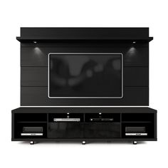 Manhattan Comfort Cabrini TV Stand and Floating Wall TV Panel with LED– Modish Store