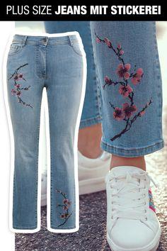 91e1ff7c8f7f90 #jeans #plussize #stickerei #bestickt ullapopken Mache Deine Beine zum  Hingucker mit dieser