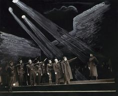 Orson Welles' Julius Caesar, 1937 - The conspirators saluting Caesar | The Shakespeare Standard