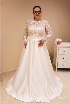 Plus size wedding dress by www.lsplussizeweddingdress com