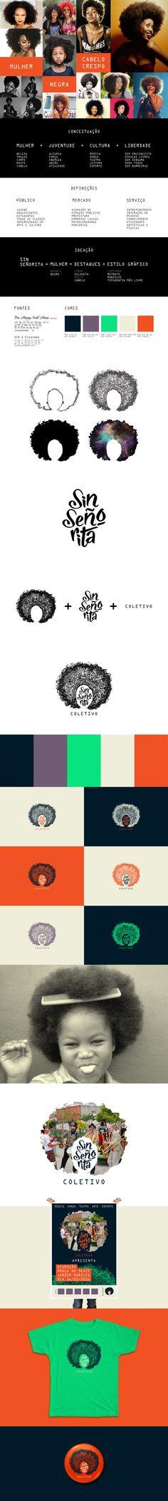 Criação de conceito, logotipo e identidade para o Coletivo Sin Señorita.