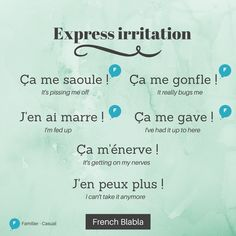#French Expressions d'irritation