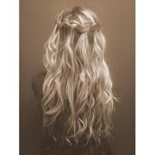 Long curly blonde hair