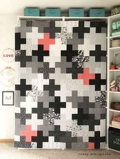 Plus Quilt pattern called Arithmetic. Link in blog