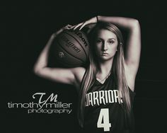 Girls basketball senior picture, dark, dramatic