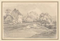 James Ward | The Birthplace of Tobias Smollett (1721-1771) on the River Leven, near Renton, Scotland | Drawings Online | The Morgan Library & Museum