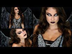 Dark Angel Halloween Makeup Tutorial & Costume! - YouTube                                                                                                                                                     More