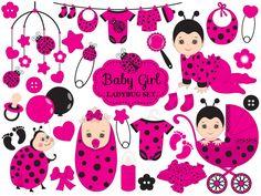70% OFF SALE Baby Ladybug Clipart - Vector Baby Ladybug Clipart, Baby Shower Ladybug Clipart, Ladybird Girl Clipart, Baby Ladybug Clip Art #thecreativemill