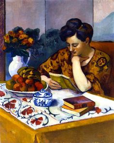 Henri Manguin, Reader with a Yellow Book, 1910