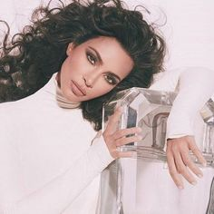 So much to sell: Kim has released a new fragrance line with her sisters Khloe and Kourtney White Catsuit, New Fragrances, Cute Photos, North West, Kim Kardashian, Dog Lovers, Sisters, Daughter, Things To Sell