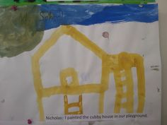 Cubby house painting by Nicholas! #JohnColetSchool #kids#painting