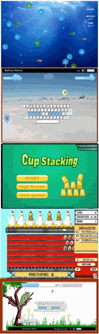 Keyboarding games - a few new ones to add to class start page