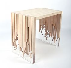 Disintegrating Tables Deceptively Disintegrating Tables - Weightlessness by Eugene Tomsky is a Sculpturally Surreal Design (GALLERY) Resin Furniture, Wooden Furniture, Cool Furniture, Furniture Design, Furniture Dolly, Contemporary Furniture, Easy Woodworking Projects, Wood Projects, Resin Table