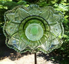 Unique Glass Flower Garden Art by rainydaygirls2 on Etsy, $55.00