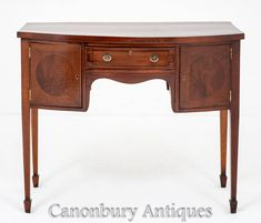 Antique Regency Sideboard - Mahogany Server Buffet Antique Sideboard, Sideboard Buffet, Buffet Server, Dining Set, Regency, Cupboard, Antiques, Wood, Furniture