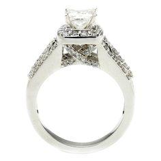 1 5/8 CTW Princess Cut Diamond Engagement Ring by MajestyDiamonds1, $2759.00