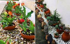 MENTŐÖTLET - kreáció, újrahasznosítás: Virágos kert Garden Fence Paint, Front Yard Garden Design, Garden Yard Ideas, Diy Garden Projects, Garden Crafts, Diy Garden Decor, Garden Pots, Cheap Landscaping Ideas, Backyard Pool Landscaping