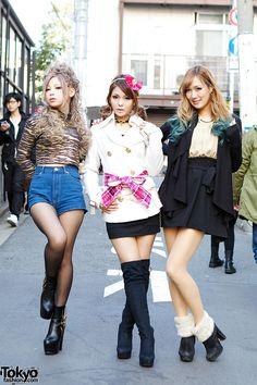 Harajuku Models in MA*RS, Fig&Viper, Lady Made, Dip Dye Hair & Bows Japanese Models in Harajuku – Tokyo Fashion News