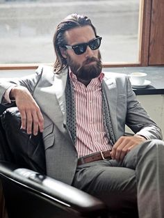 #beard #style #suit #manly