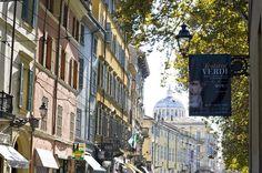 Zona di produzione del Parmigiano Reggiano, la città di Parma