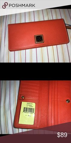 Dooney & Bourke Woman's Leather Wallet NWT NWT Pebbled Leather  $128.00 Retail Dooney & Bourke Bags Wallets