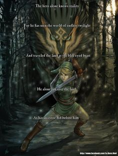 This makes me sad cause I know the ancestor before him was the hero of time.. I loved ocarina of time so much and I really became attached to that Link.