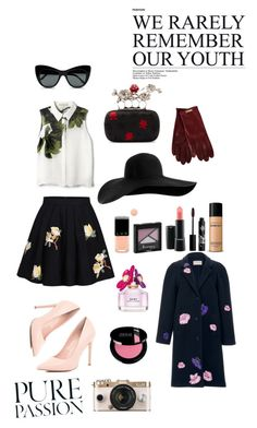 """""""Bright your day with flowers"""" by ayanweirdo ❤ liked on Polyvore featuring Elle Sasson, River Island, Alexander McQueen, Dsquared2, Christopher Kane, MAC Cosmetics, Rouge Bunny Rouge, Marc Jacobs, Rimmel and Bare Escentuals"""