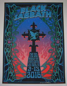Mike Dubois Black Sabbath Las Vegas Poster S/N AP The End Tour 2016 Signed Numbered