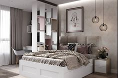 Zdjęcia ДИЗАЙН СТУДИЯ А Б Girl Bedroom Designs, Bedroom Styles, Ikea Interior, Interior Design, Big Bedrooms, Round Beds, Teenage Room, Luxurious Bedrooms, My New Room