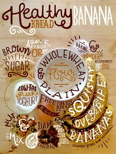 Beautiful Editorial Design - Banana Bread Hand Lettering by Steph Baxter, via Behance