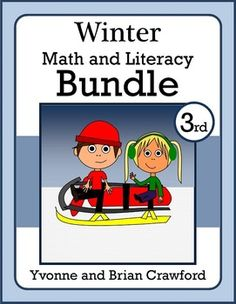 Winter Bundle features 8 different packets of math and literacy worksheets and activities specifically for 3rd grade. $