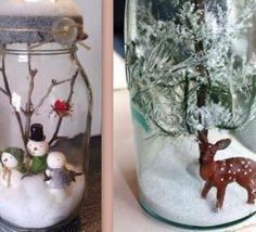 Faire de jolis bocaux de Noël ! Toujours dans l'idée d'agrémenter joliment votre table de Noël ou votre intérieur, voici comment faire de jolis bocaux de Noël..