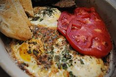 barefoot contessa - herb baked eggs