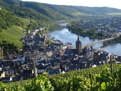 Bernkastel-Kues, Germany    It's right on the Mosel.  Some of the best wine you'll ever drink is from there.